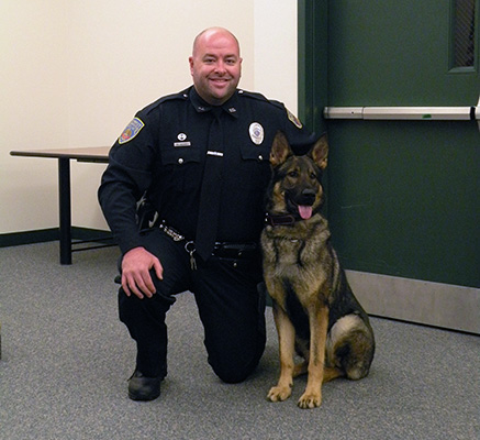 Officer Krembs and K9 Aron